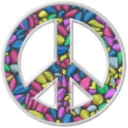 Peace Ecstasy embroidery design