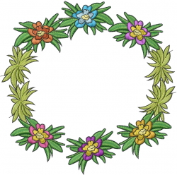 Tropical Flowers embroidery design