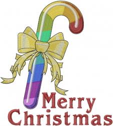 Rainbow Christmas embroidery design