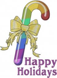 Rainbow Holidays embroidery design