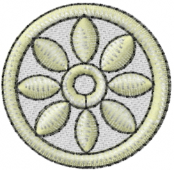 Religion Buddhism embroidery design