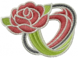 Rugby Ball Flower embroidery design