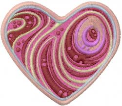 Steak Heart embroidery design