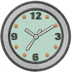 Round Clock embroidery design