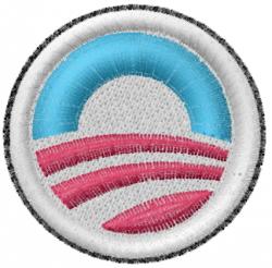Obama Symbol embroidery design