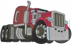 Semi Truck Cab embroidery design