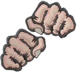 Boxing Fist embroidery design