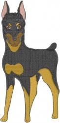 Doberman Dog embroidery design