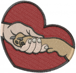 Friends Heart embroidery design