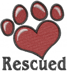 Rescued Dog embroidery design