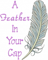Feather In  Cap embroidery design