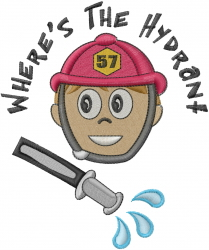 Wheres The Hydrant embroidery design