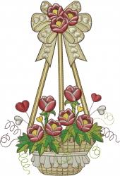 Flower Basket embroidery design