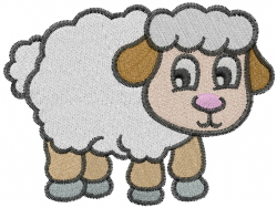 Cute Sheep embroidery design