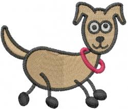 Stick Dog embroidery design
