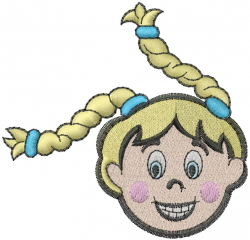 Stick Figure Girl embroidery design