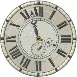 Vintage Clock embroidery design