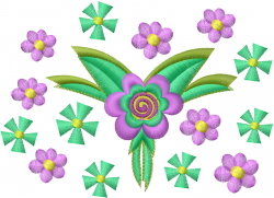 Group of Flowers embroidery design