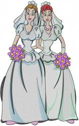 Gay Brides embroidery design