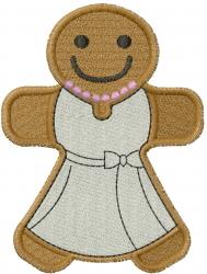 Gingerbread Bride embroidery design