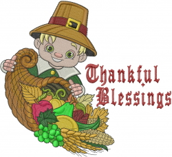 Thankful Blessings embroidery design