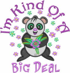 A Big Deal embroidery design