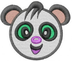 Panda Head embroidery design