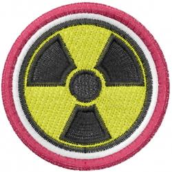 Radiation Symbol embroidery design