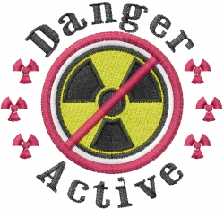 Danger Active embroidery design