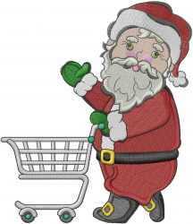 Santa Shopping embroidery design