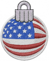 American Flag Ornament embroidery design