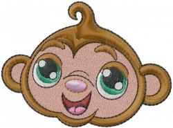 Monkey Head embroidery design