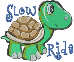 Slow Ride embroidery design