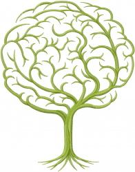 Brain Tree embroidery design