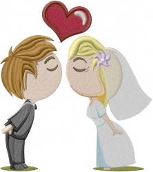 Wedding Kiss embroidery design