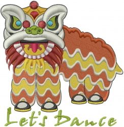 Lets Dance embroidery design