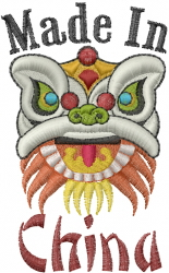 Made In China embroidery design