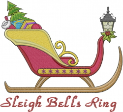 Sleigh Bells Ring embroidery design