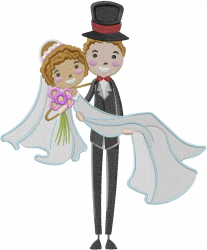 Groom and Bride embroidery design