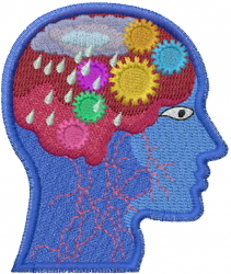 Depression Head embroidery design