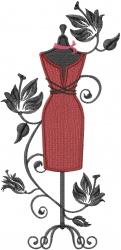 Dressmaker Mannequin embroidery design