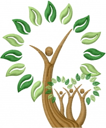 Green Tree embroidery design