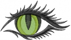 Eye Green embroidery design
