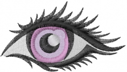Eye Face embroidery design