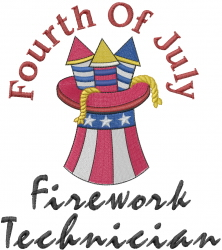 Firework Technician embroidery design