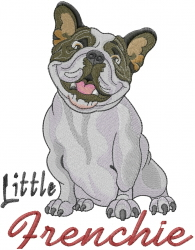 Little Frenchie embroidery design