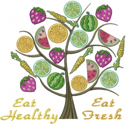 Eat Fresh embroidery design