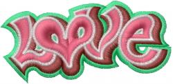 Graffiti Love embroidery design