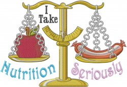Nutrition Seriously embroidery design