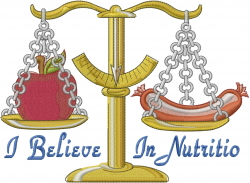 Believe in Nutrition embroidery design